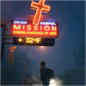 Union Gospel Mission Sign