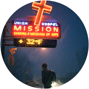 Union Gospel Mission Sign